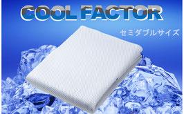 クールファクター 接触冷感敷パット(セミダブルサイズ120×205㎝)【4500201SD】