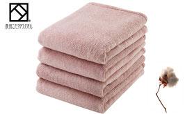 泉州こだわりタオル つやめき 超長綿バスタオル4枚セット(カラー:さくら)(YSK-B4SA)