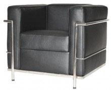Fotel inspirowany projektem LC2 Kubik