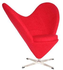 Fotel Serce inspirowany Heart Cone Chair