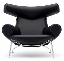Fotel z podnóżkiem inspirowany OX chair