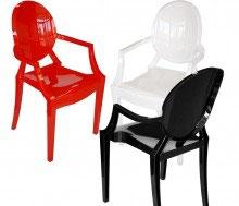 Krzesło ROYAL inspirowane projektem Louis Ghost