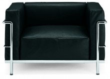 Fotel inspirowany projektem LC3 Kubik