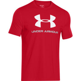 Under Armour Sportstyle Logo T-Shirt Red / Steel / White