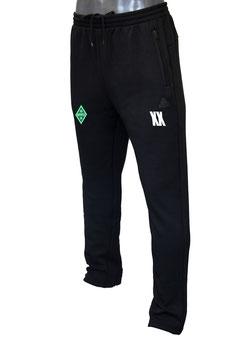 PEAK Trainingshose schwarz mit Bothfeld-Logo und Initialen
