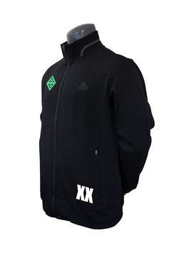 PEAK Trainingsjacke schwarz mit Bothfeld-Logo und Initialen