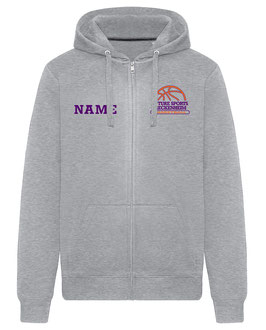 FS Zip-Hoodie Grau mit Logo und Wunschname