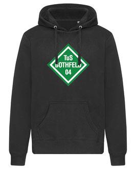 BOTHFELD Hoodie schwarz mit Rauten-Logo und Wunschname
