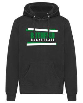 BOTHFELD Hoodie schwarz mit Balken-Logo und Wunschname
