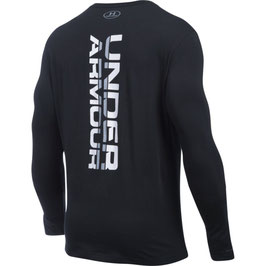 Under Armour Vertical Wordmark Longsleeve Black / White