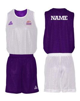 FS PEAK Wendeset weiß/purple mit Wunschname und Logo