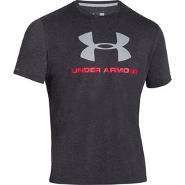 Under Armour Sportstyle Logo T-Shirt Black / Red / Steel