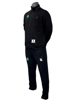 PEAK Sportanzug schwarz mit Bothfeld-Logo und Initialen