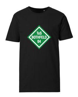 BOTHFELD T-Shirt schwarz mit Rauten-Logo und Wunschname