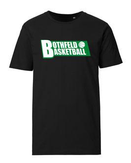 BOTHFELD T-Shirt schwarz mit Block-Logo und Wunschname