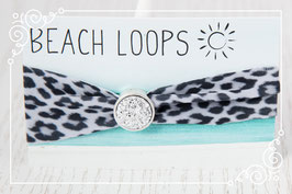 Beach Loop - Leopard weiß