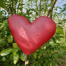 Herz, rot patiniert