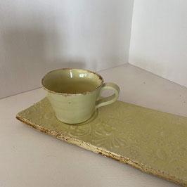 """Set """"Kuchenliebe"""", Gelb mit braunem Rand"""