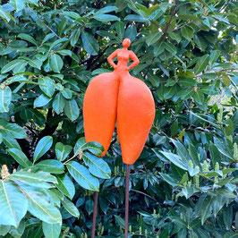Herzdame, orange