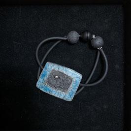 Armband, Türkis mit Silberperle