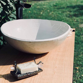 Keramikbecken, Weiß