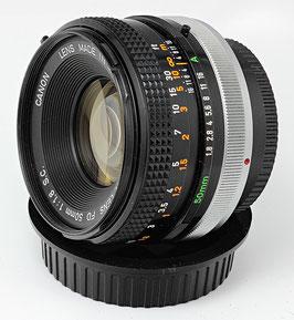 Canon FD 50mm f/1.8 S.C