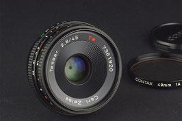 Zeiss Tessar T* 45mm f/2.8 monture canon eos ou contax