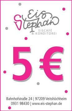 5 € Wertgutschein