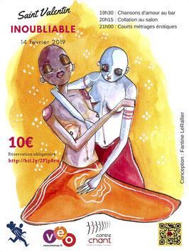 Affiche Saint Valentin fire format 80x60