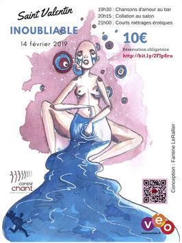 Affiche Saint Valentin Water format 80x60