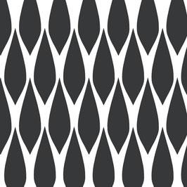 Luminaire XL motif goutte coton sérigraphié