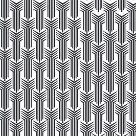 Luminaire large motif colonne coton sérigraphié