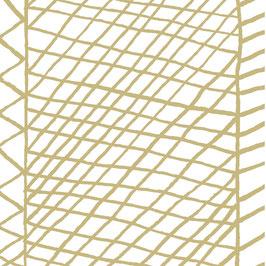 Luminaire XL motif berbère moutarde coton sérigraphié
