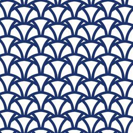 Luminaire ovale motif Vague coton sérigraphié