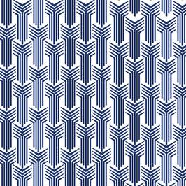 Luminaire goutte motif colonne coton sérigraphié