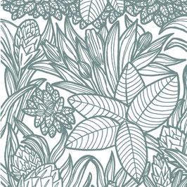 Luminaire ovale motif Végétal coton sérigraphié