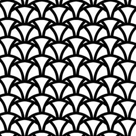 Luminaire large motif Vague coton sérigraphié