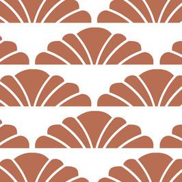 Luminaire XL motif croissant cuivre coton sérigraphié
