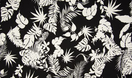 Jersey Tropical Flowers - Black