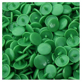 Pressions en plastique - col. vert herbe
