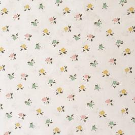 Popeline de coton blanche petites fleurs
