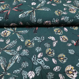 Viscose Dragonfly green