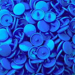 Pressions en plastique - col. bleu roi