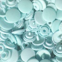 Pressions en plastique - col. vert d'eau