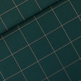 Gabardine Thin Grid XL Green Gables