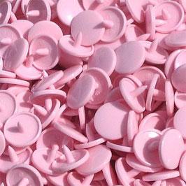 Pressions en plastique - col. rose clair