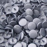 Pressions en plastique - col. gris argenté