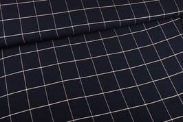 Viscose Navy carreaux Lurex
