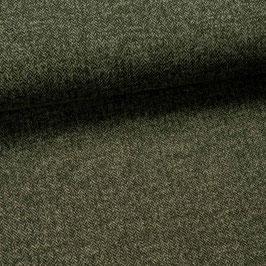 Maille chevrons vert lichen