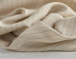 Tencel Pin Stripe Twill - Ivory
